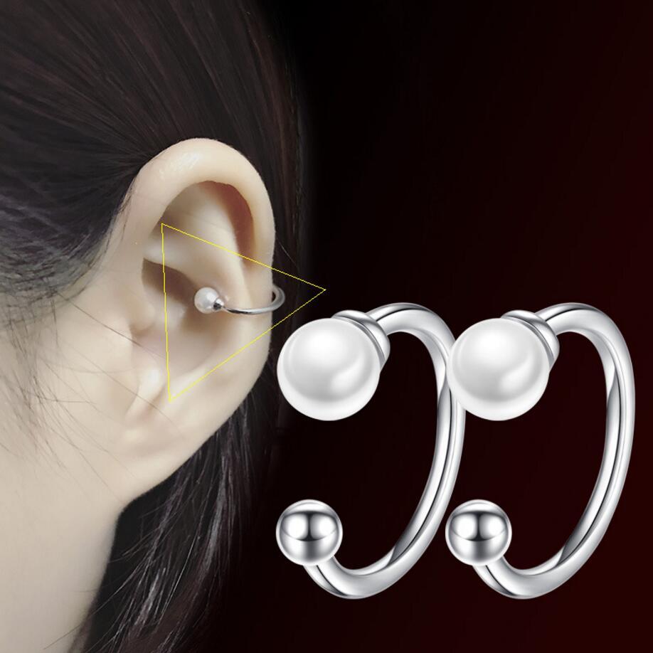 Clip Earrings Fashion Women Round Crystal Heart Clip Earrings Color Drill Without Ear Hole Earring Strong Magnet False Ear Earring