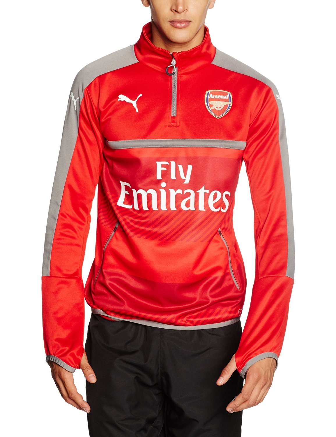 Puma Arsenal FC 2016/17 1/4 Zip Training Top - Adult - High Risk Red -