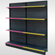 Store shelves white with led light store shelf pen wall shelves for shop
