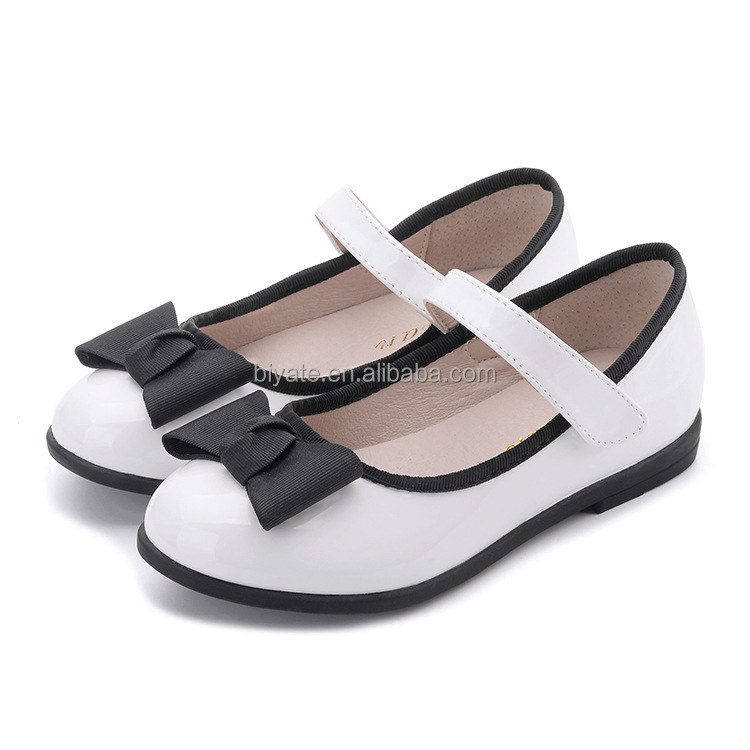 school shoes bowknot cute leather shoes