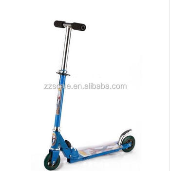 Foldable Foot Pedal Two Wheel Scooter Bike For Baby Kid Children Elastic Pvc Wheels Balance