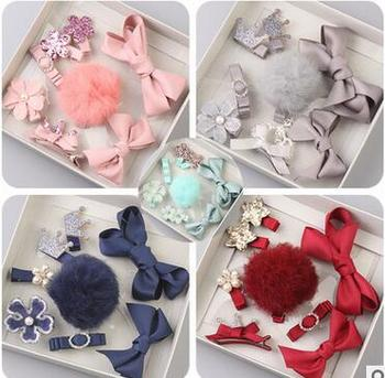 1 Set Of Boutique Retro Kids Hair Accessories 1set Of Handmade Baby