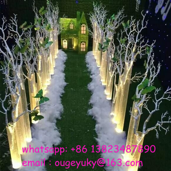 Latest tree branches aisle decor weddings stage decoration wholesale