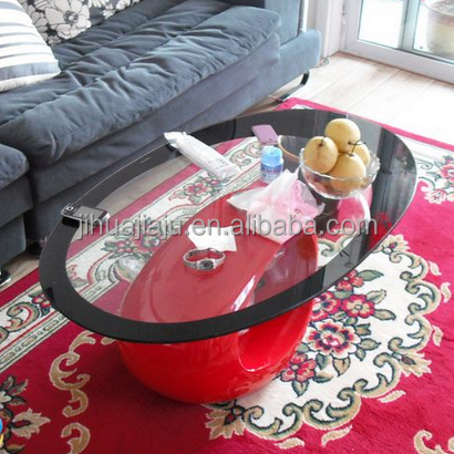 Glass Coffee Tables/animal Glass Coffee Table/oval Shape Glass Table