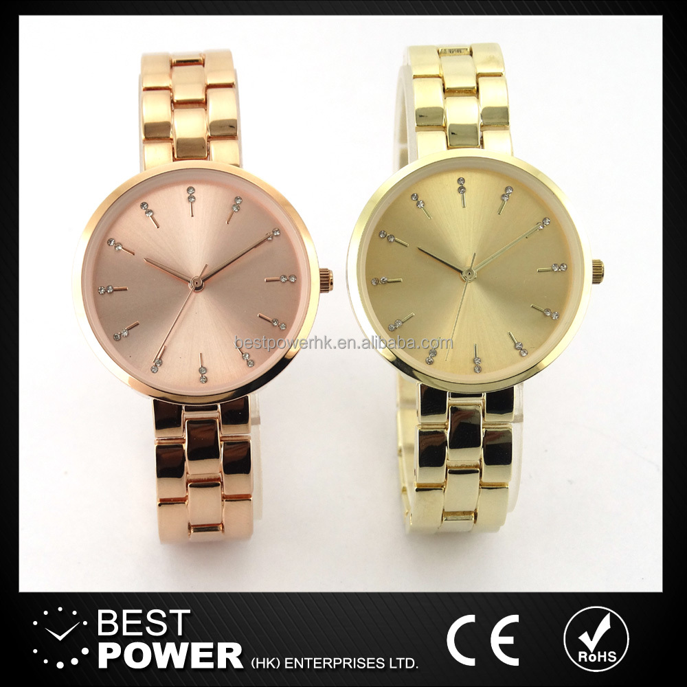 China factory custom crystal ladies watches