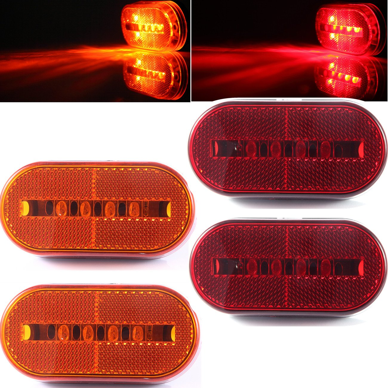 """20Pack 3//4/""""Inch Mount SMOKED LENS/&Red LED Clearance Markers,marker trailer light"""