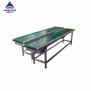 High Quality Grade hot sales Mini Flexible performance PVC green type belt conveyor system
