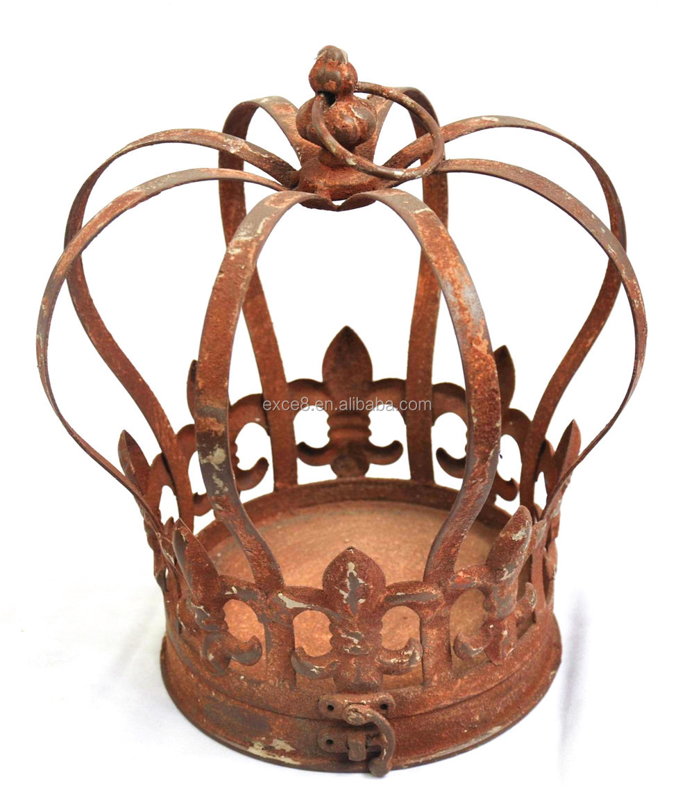 French style christmas gift decorative metal crown buy for Crown decorations home
