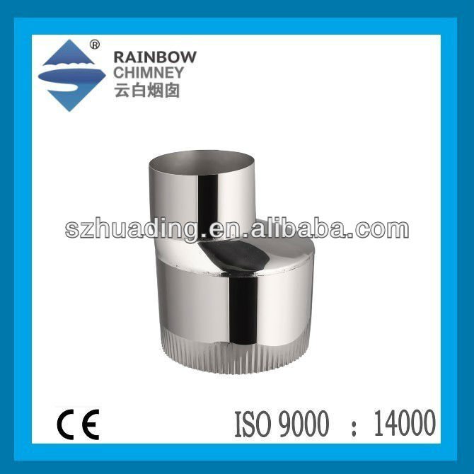 CE ans stainless steel reducer pipe for stove or fireplace chimney pipe fittings