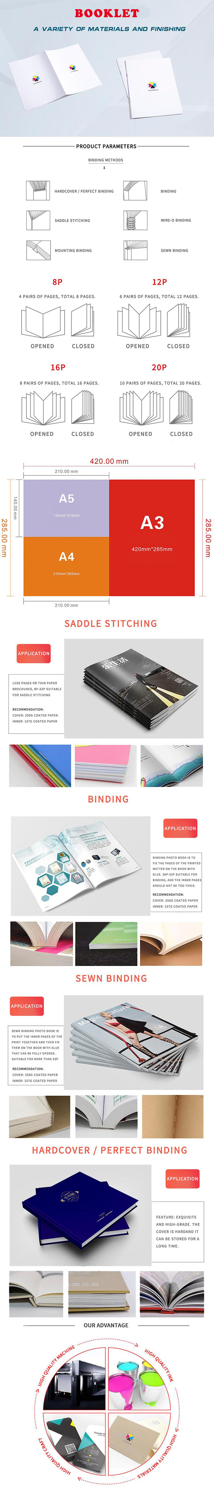 print manufacturer direct sale custom printed high quality Spiral Booklet