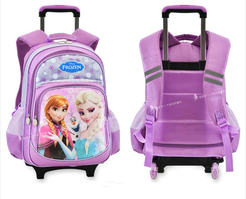 Rolling Backpack Wheeled Bag Trolley Frozen Girls School Bag - Buy ...