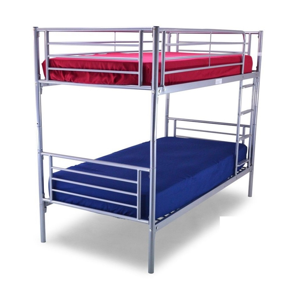 Wholesale latest double bed design double deck bed metal for Cheap double deck bed