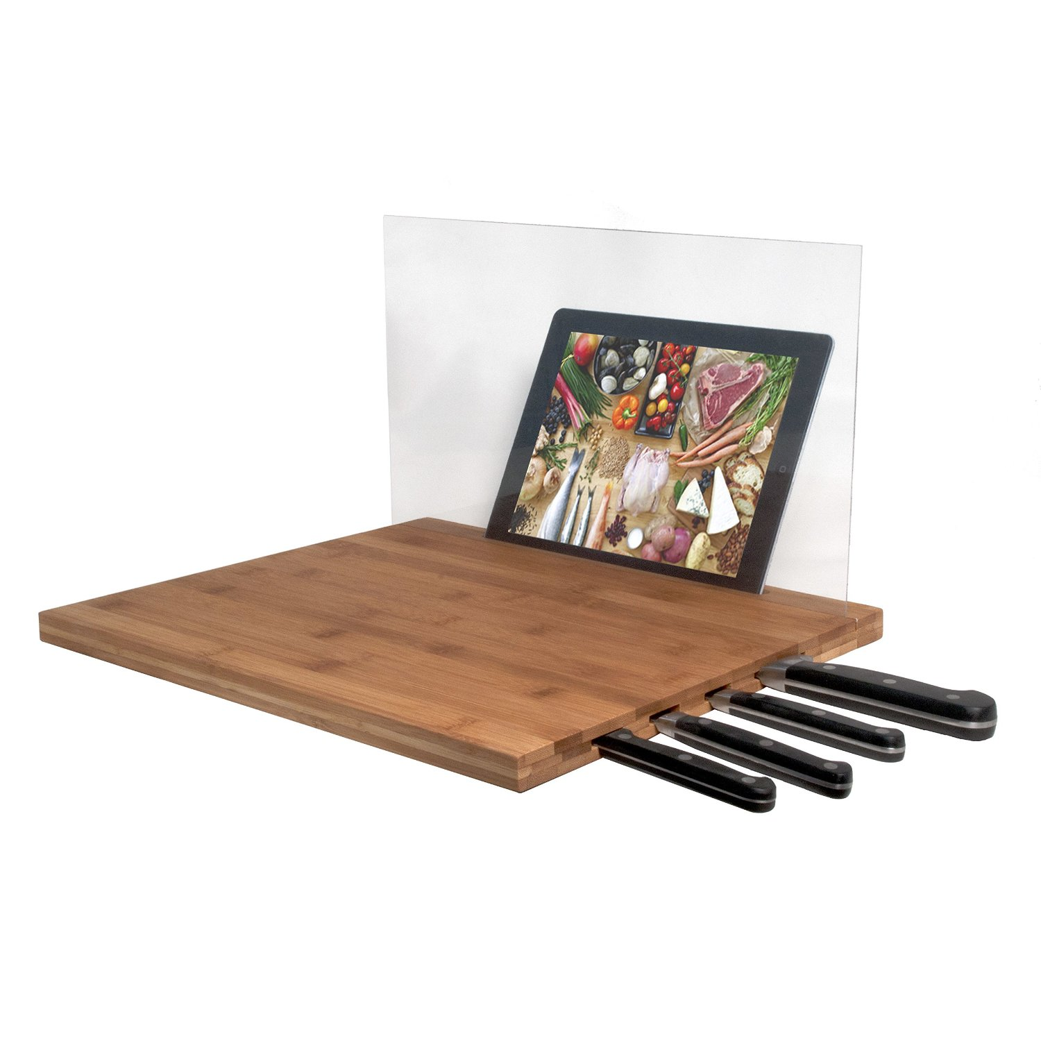 Get Quotations Cta Ipad Air 3rd Gen 2 Knife Storage Bamboo Cutting Board