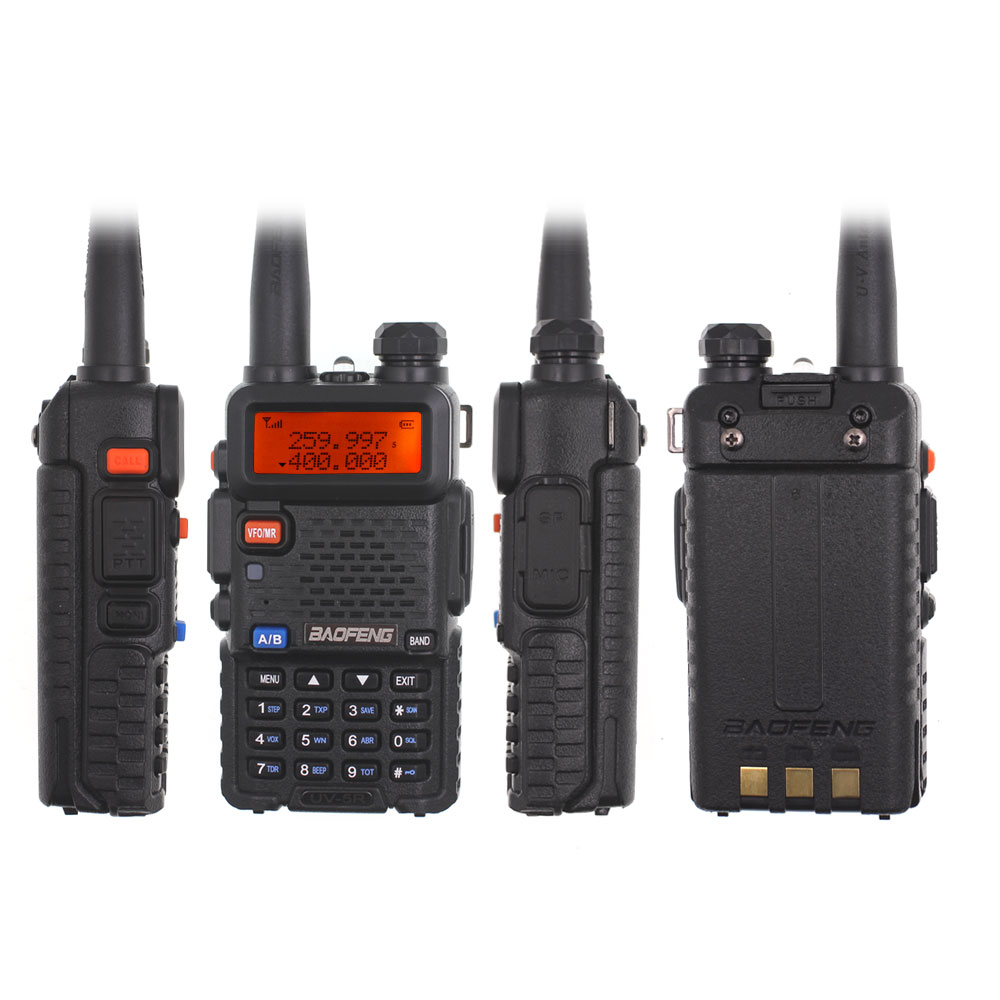Nova Baofeng Walkie Talkie UV-5R Tri-band 136-174 mhz 220-260 mhz 400-520 mhz presunto interfone BF-R3 Dual display Atualizado UV 5R