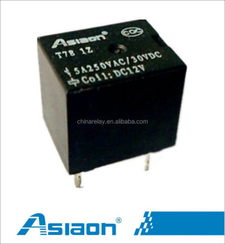 Asiaon JQC T78 PCB 5 pin 5v mini relay View 5 pin 5v mini relay