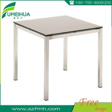 Fumeihua white color matte surface compact laminate dining tables