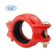 Fire protection RED powder epoxy grooved 4 inch rigid coupling pipe fittings