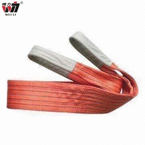 Red Blue Black 4 x 8 web sling belt folded eye polyester pipe flat woven lifting webbing sling price