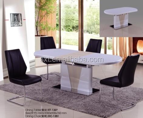2015 diseño moderno de vidrio superior mesa comedor de diseño en ...