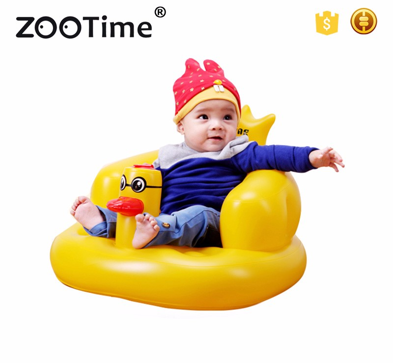 New Duck Baby Shower Seat Bath Stool Inflatable Chair Portable Bath ...
