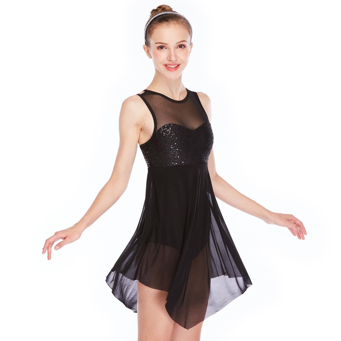 a19037acc Midee Dance Dress Lyrical Dance Costume Elegant Tank Illusion ...