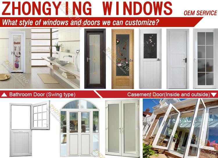 Double Swing Type White Pvc Apartment Small 24 X 80 Exterior Door