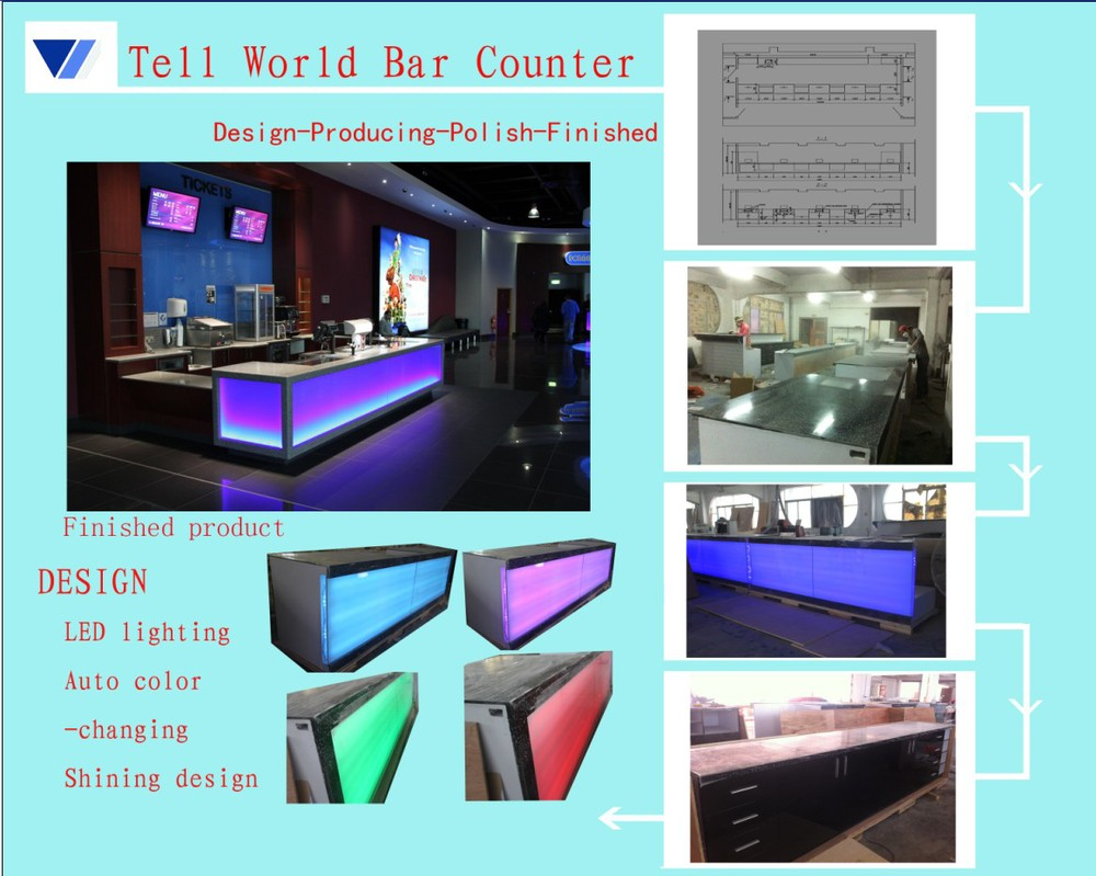 Used aquarium fish tank for sale - 2015 Hot Sale Acrylic Solid Surface Bar Counter Aquarium Fish Tank Bar Counter Used