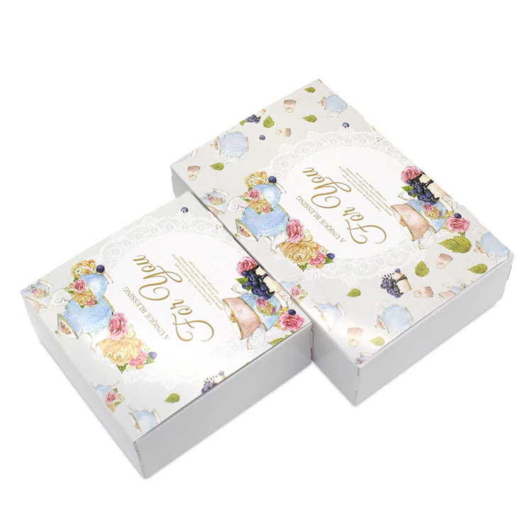 custom logo luxury white cardboard gift cake food packaging paper boxes for pastry
