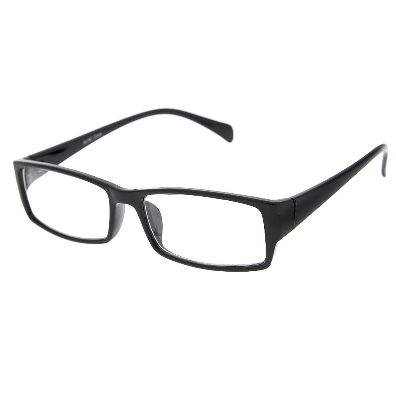 0750191d8c5 grinderPUNCH Fake Plastic Rim Clear Lens Plano Reading Glasses for Men and  Women