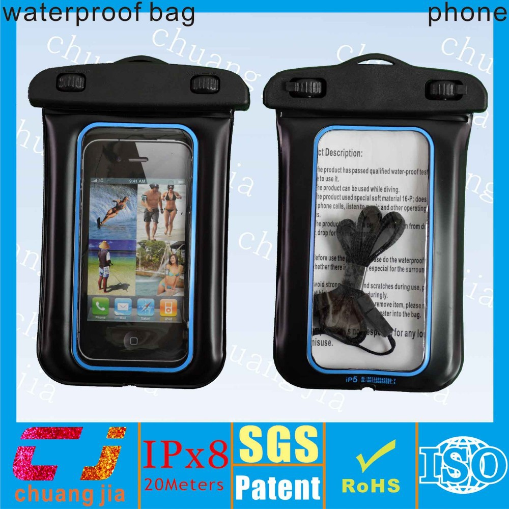 Soft mobile phone pvc waterproof pouch bag for iphone 5s/5c