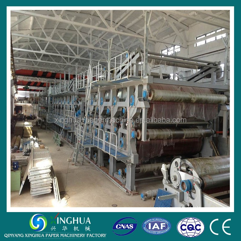 4200mm 200TPD Three Headbox Kraft Liner Paper Machine Made in China