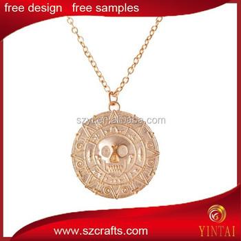 Caribbean pirates gold coin pendant buy gold coin pendantjewelry caribbean pirates gold coin pendant aloadofball Choice Image