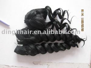 machine high quality 100% india remy virgin human hair weft hair extension weaving