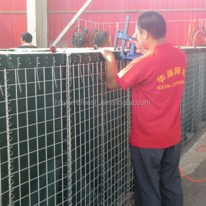 Protection engineering of seaside area blast wall for safety hesco barriers