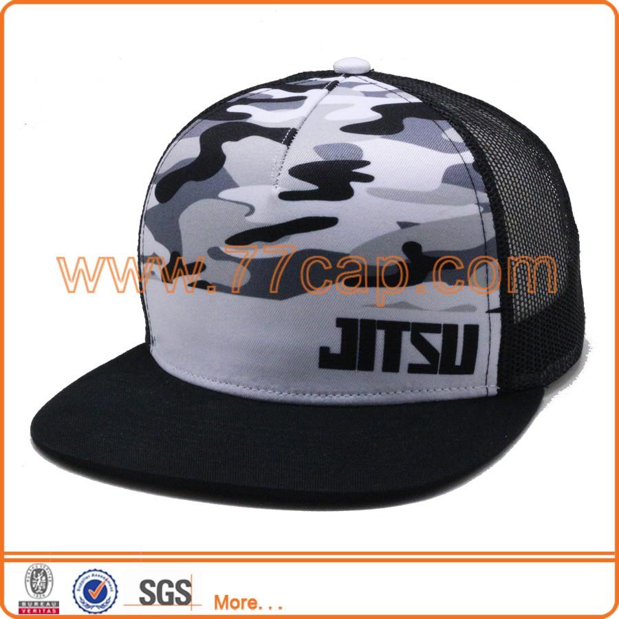 Mesh Back Trucker Cap Snapback Hat - Parchment N Lead 8e2df6af9e25