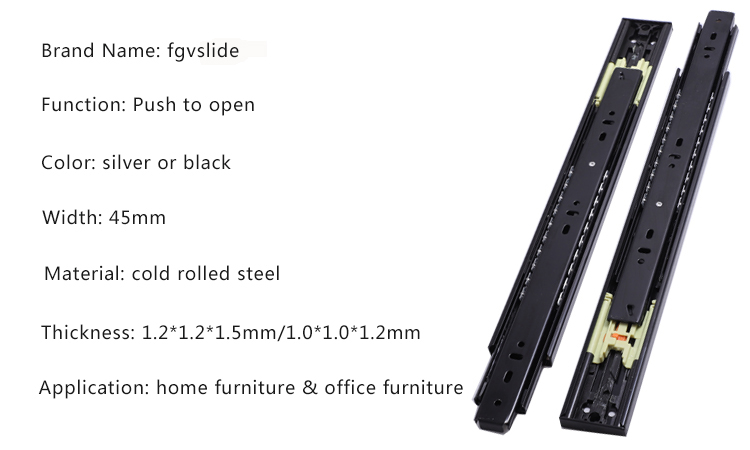 hardware fitting slides