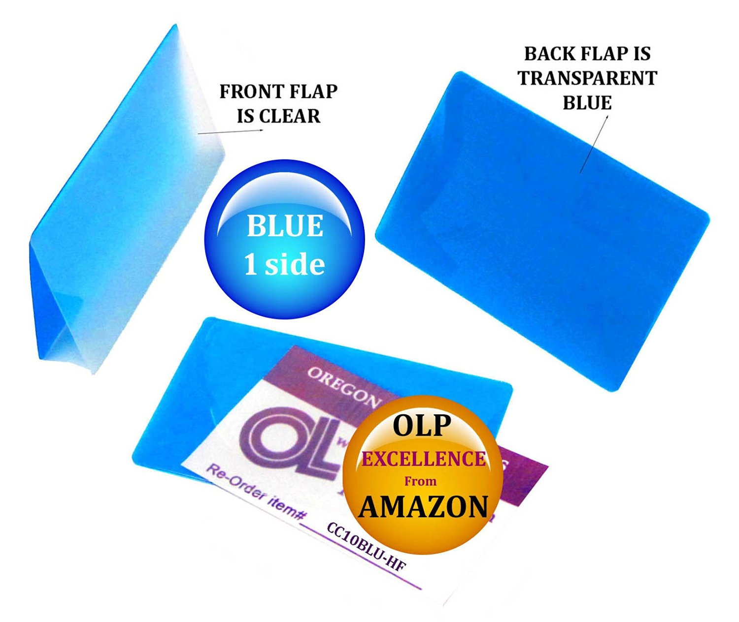 LAM-IT-ALL Hot Laminating Pouches Credit Card (pack of 50) 10 mil 2-1/8 x 3-3/8 Blue/Clear