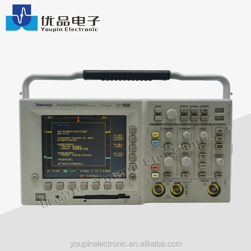 Tektronix TDS3052 Digital Oscilloscope 500MHz 2channel LCD color display, 5GS/s