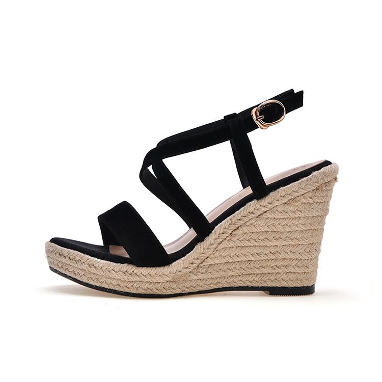 2017 Altas Cabra Piel Plataforma De Sandalias Zapatos Cuñas Mujer wZPTOXliku