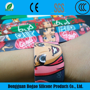 Bangles Bracelets or Bangles Type and Silicone Jewelry Main Material cheap custom silicone slap bracelet