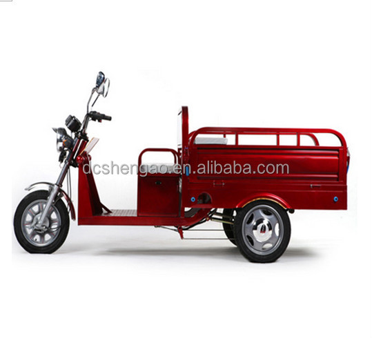 cargo rickshaw for Asian market; tricycle with wagon