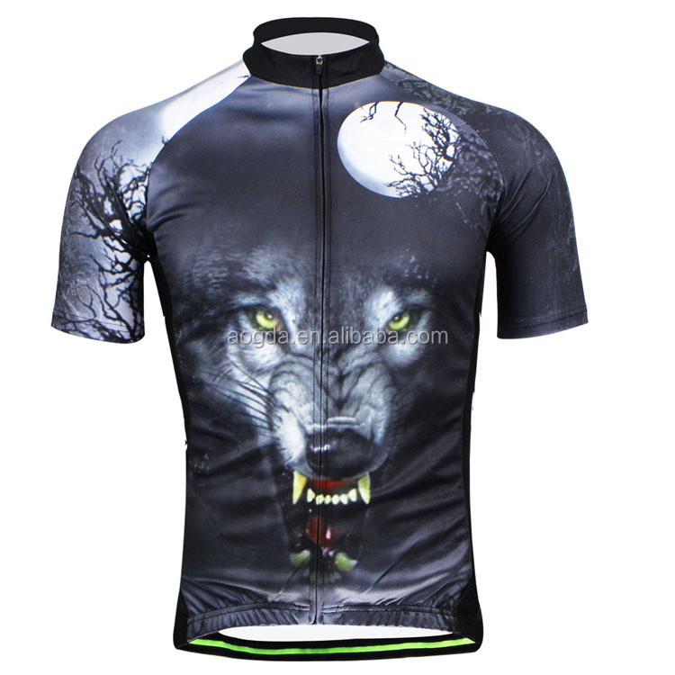 AOGDA Cycling Wear Wolf King <strong>Specialized</strong> Bike Tops Mens Road cycling clothing China Wholesale