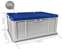 52L fashionable and strong Plastic storage box with lockable lid