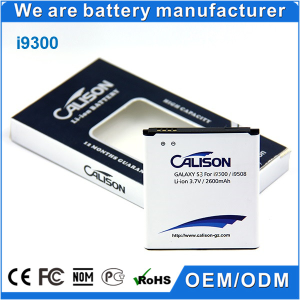High Capacity Replacement Battery for Samsung Galaxy S3 i9300 I535 EB-L1G6LLU