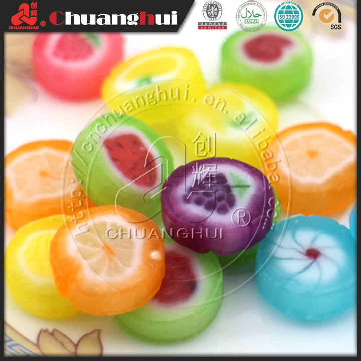 2017 New Product 2 In 1 Hard Candy with Sugar Free Pressed Candy
