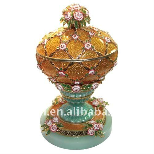 Jewelry box of russian faberge egg