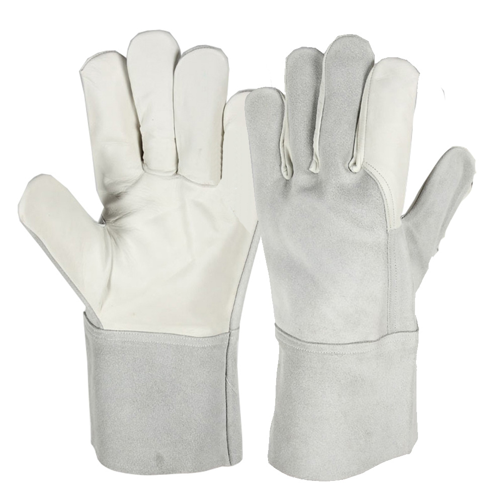 Seeway Cowhide Split Heavy Duty Industrial Safety Driver Gloves Leather Welding Gloves