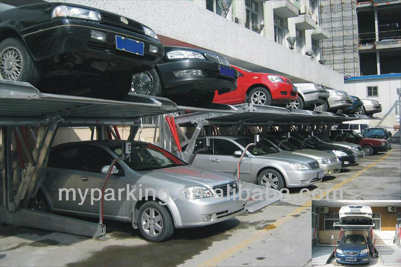 Electric Platform Stacker 2 Level Parking Lift Simple Tilting Home