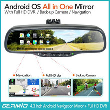"5"" 1080p Android 4.0 specchietto retrovisore <span class=keywords><strong>gps</strong></span> dash cam auto dvr+backup bt wifi fotocamera"