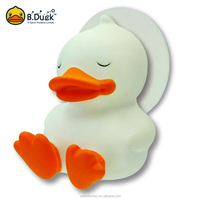 B.Duck cute duck shape white hanging wall toothbrush holder